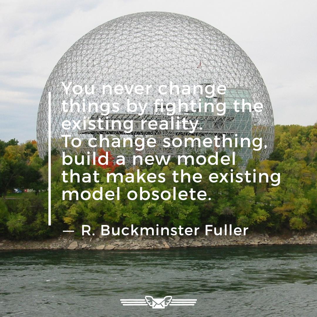 minimotivator 14052020 - Today's minimotivator: To change something, build a new model